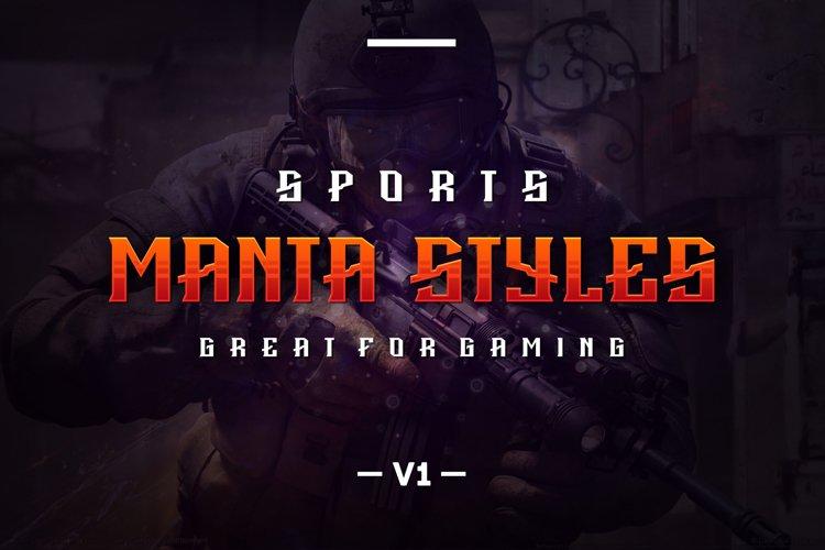 Manta Styles V1 font example image 1