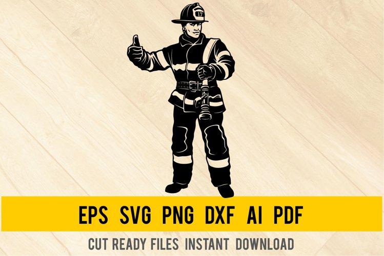 Fireman SVG - Firefighter Svg, Fire Department, Firefighting example image 1