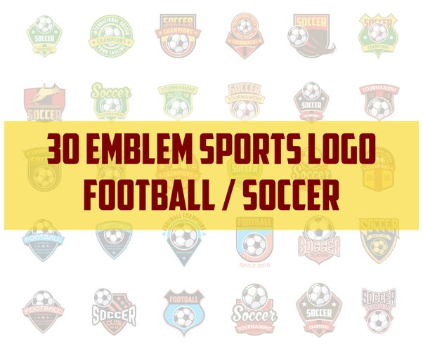 30 football / soccer emblem sports logo  example image 1