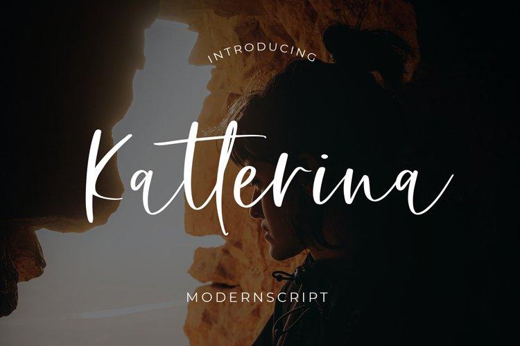 Katterina Modern Script Font example image 1