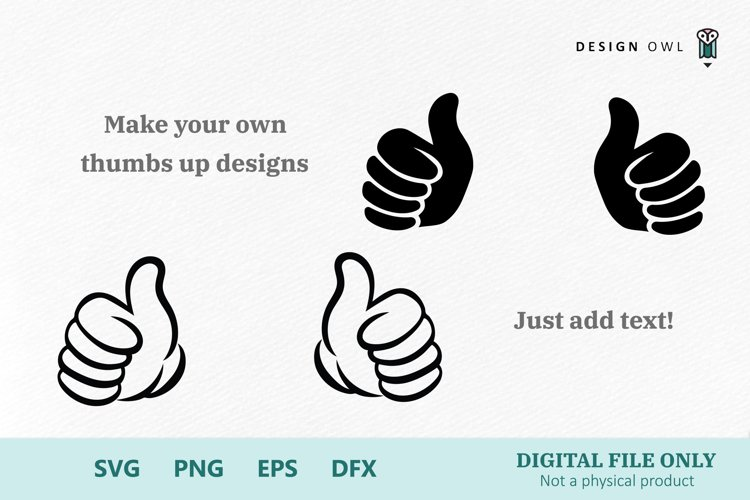 Thumbs up hands - SVG cut files