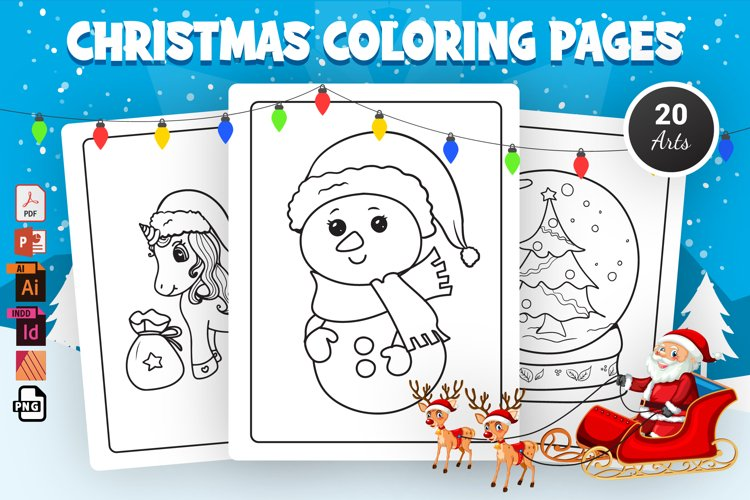 Christmas Coloring Pages - KDP Interior example image 1