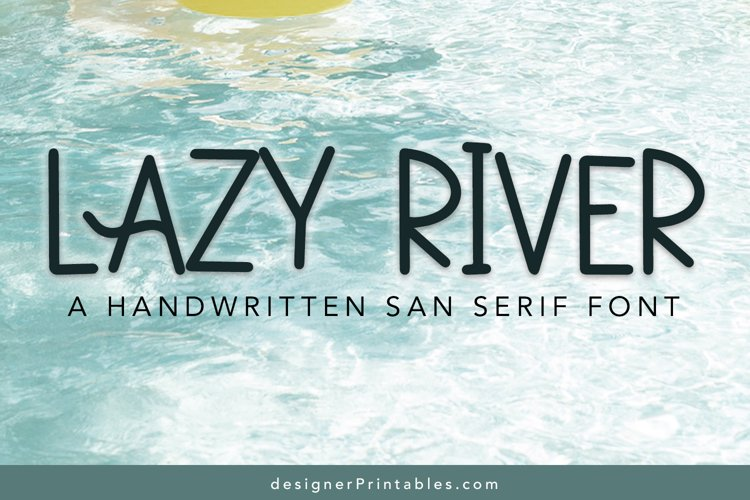 Lazy River Font example image 1