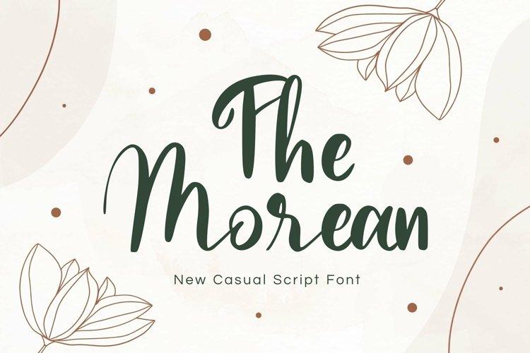 Web Font Morean Display Font example image 1