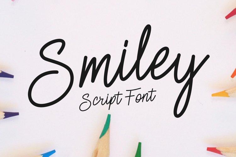 Smiley   Monoline Script example image 1