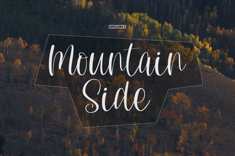 Mountain Side - A Lovely Handwritten Font example image 1