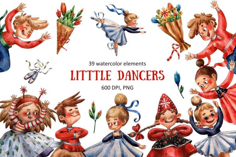 Little Dancers - Watercolor Clip Art example image 1