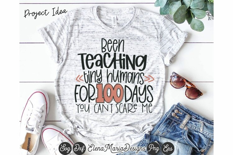 Teacher 100 Days Of School SVG File example image 1