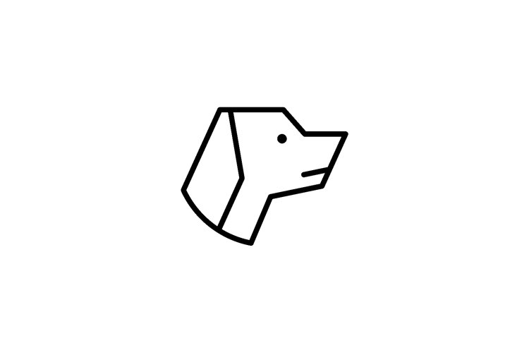 Gog logo in black stripe style vector design example image 1