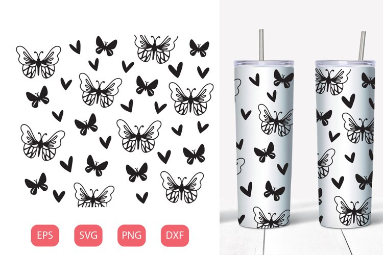 Butterfly seamless tumbler 20 oz  SVG