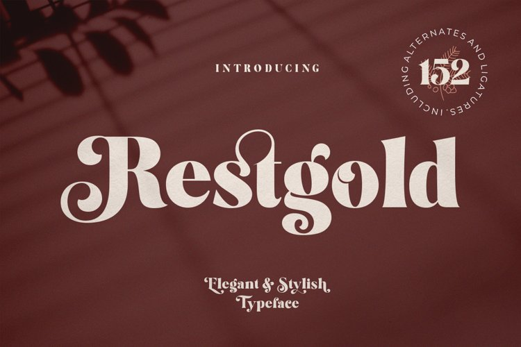 Restgold Serif Font example image 1