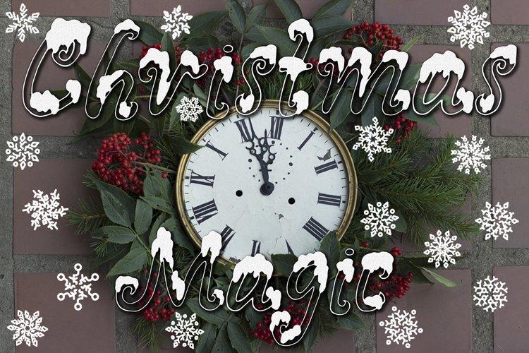 Snowy X-mas font example image 1