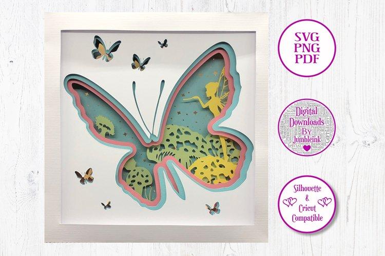 Butterfly - 3D Paper Cut Template Light Box