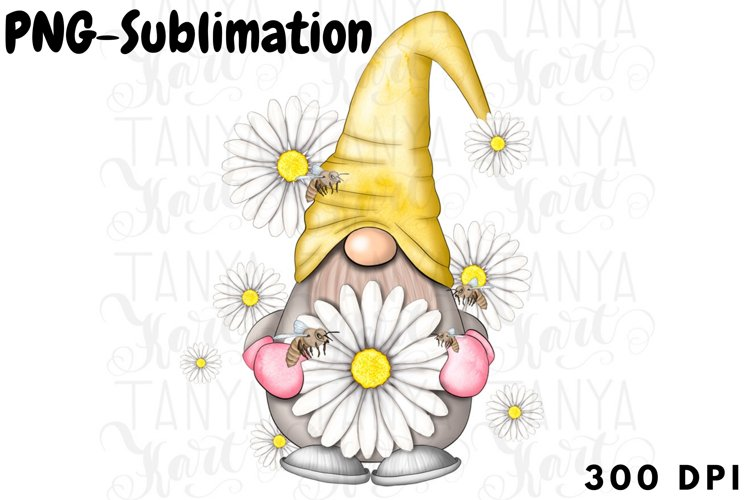 Daisy Gnome Png | Sublimation Design