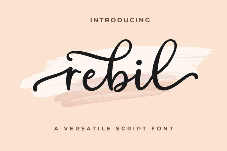 Rebil Modern Script example image 1