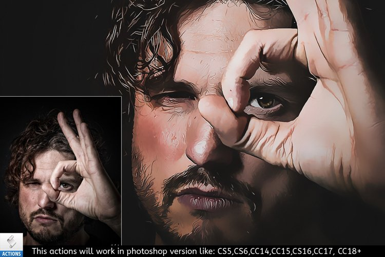 Vector Painting Photoshop Action v3