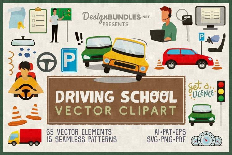 Driving School Vector Clipart Pack
