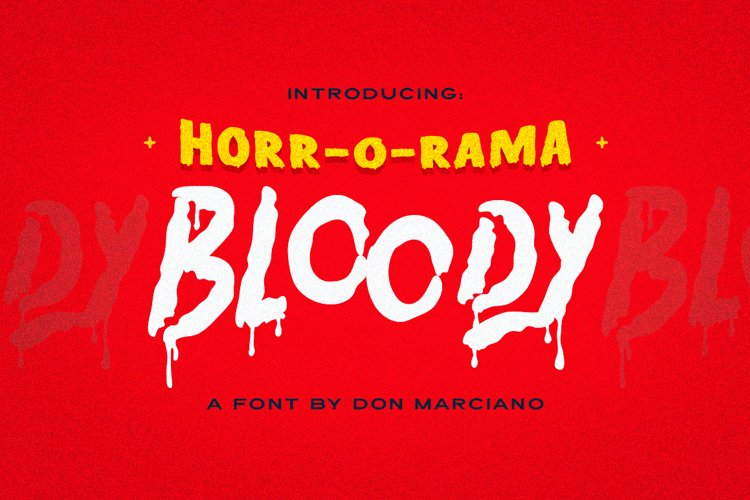 Bloody Scary Font example image 1