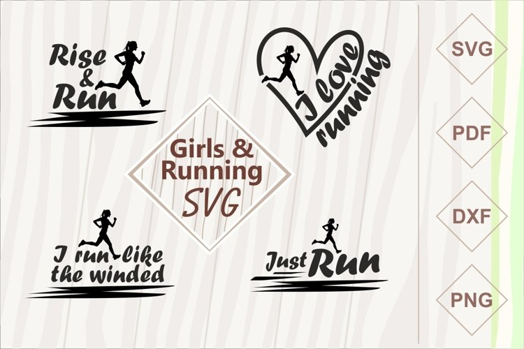 Girls and running SVG bundle example image 1
