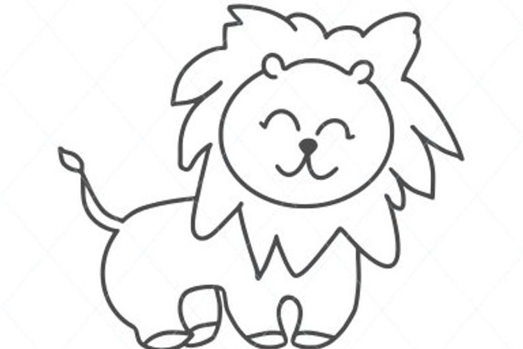 Baby lion svg, cute lion svg, cute svg, baby animal cut file example image 1