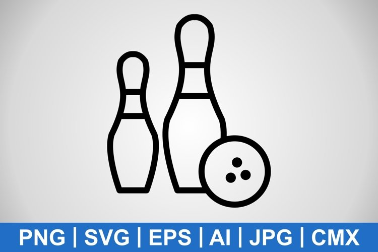 Vector Bowling Icon example image 1