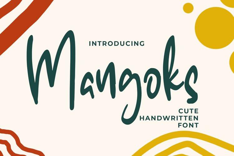 The Mangoks - Cute Handwritten Font example image 1