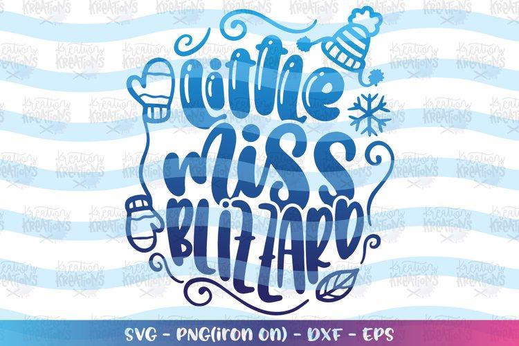 Christmas svg Little Miss Blizzard winter season baby kids example image 1