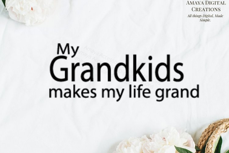 My Grandkids makes my life Grand Svg File example image 1