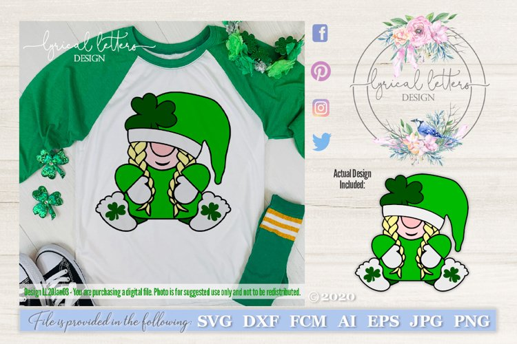 St. Patricks Day Gnome SVG Cut File LL20Jan03