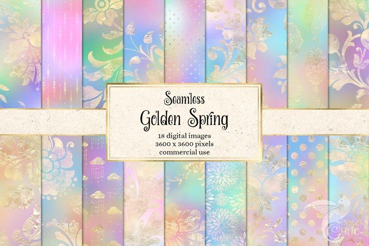 Golden Spring Digital Paper