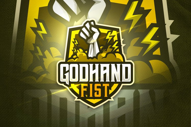 Godhand Fist - Mascot & Esport Logo example image 1