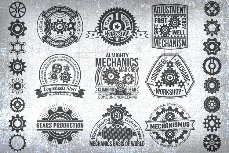 Gears logo template set