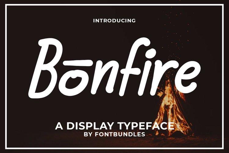 Web Font Bonfire example image 1