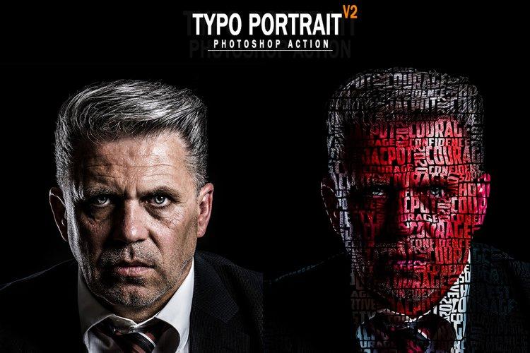 Typo Portrait v2 Photoshop Action example image 1