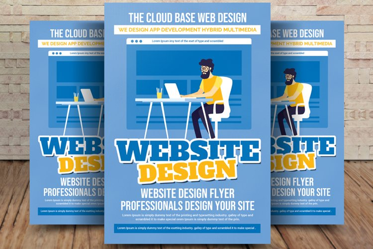Web Designer Flyer Template example image 1