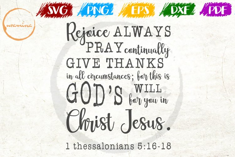 Rejoice Always Pray Fall Thanksgiving Quote Art example image 1