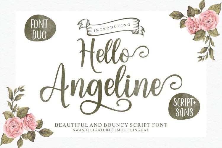 Hello Angeline Font Duo example image 1