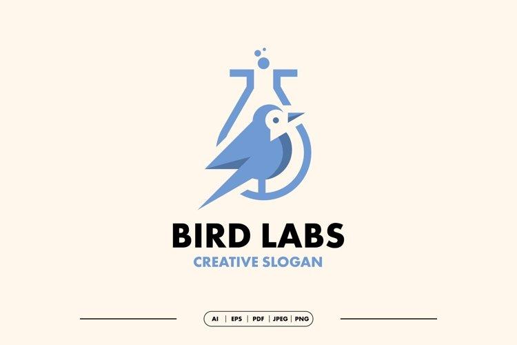 Bird Lab Modern Logo Template example image 1