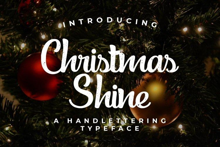 Web Font Christmas Shine example image 1