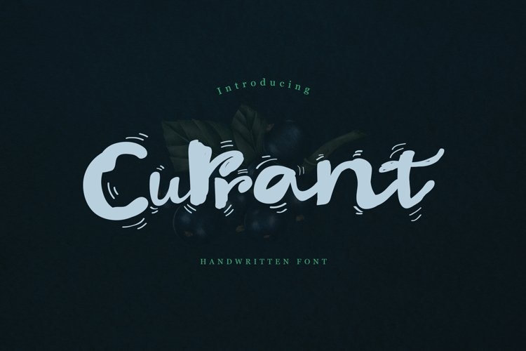 Currant Handwritten Font example image 1