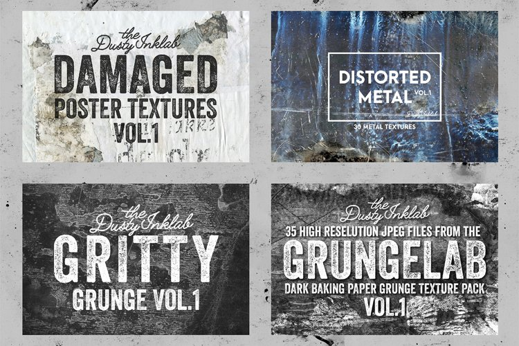 The Dusty Inklab Grunge Sample Pack example 1