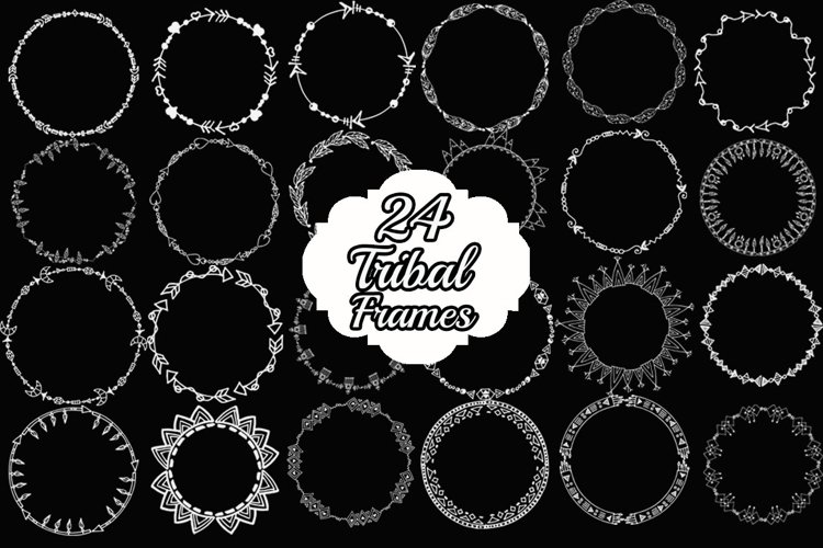 Chalkboard Wreath clipart example image 1