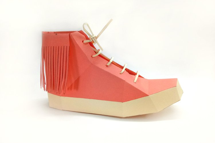 DIY Fringes Shoe - 3d papercraft example image 1