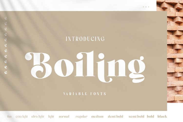 Boiling Variable Font example image 1