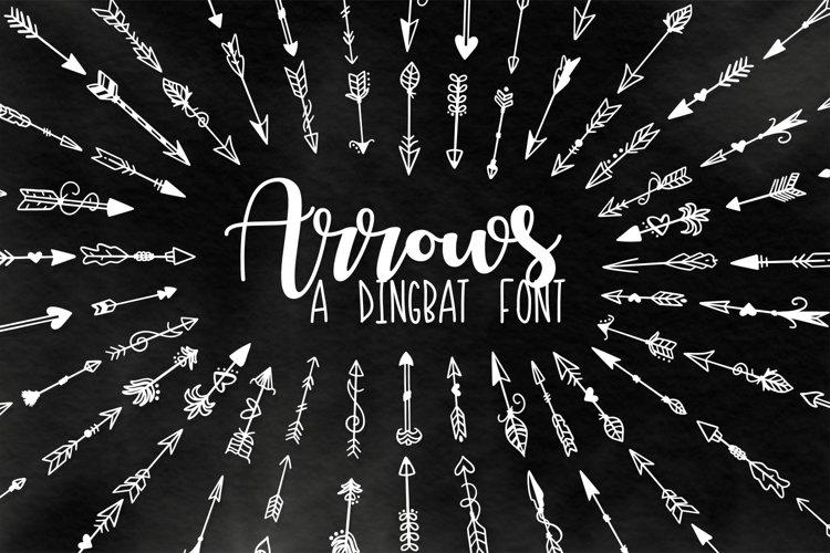 Arrow Font - Ornaments  example image 1
