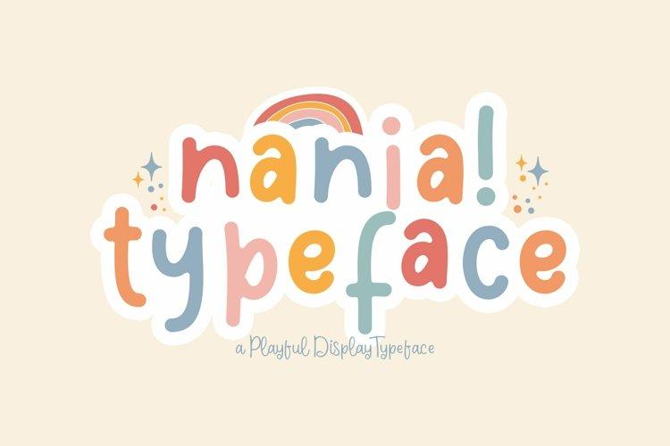 Web Font Nania example image 1