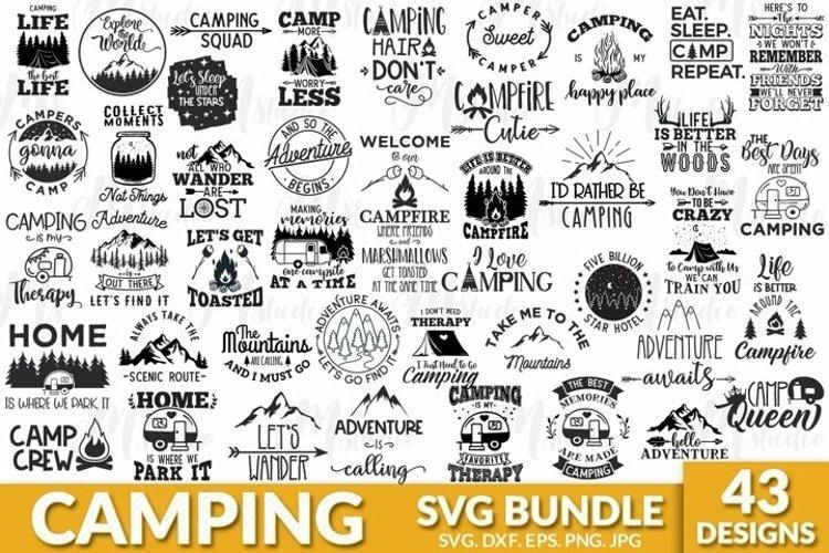 Camping SVG Bundle. example image 1