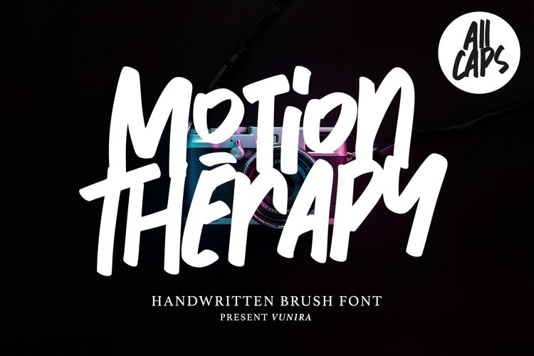 Motion Therapy | Handwritten Brush Font example