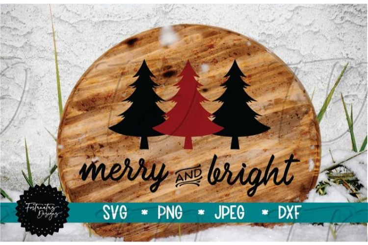 Merry and Bright SVG, Christmas SVG, Holiday SVG