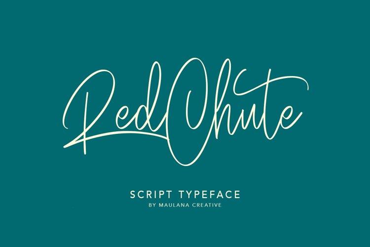 RedChute Modern Script Typeface Handmade Brush example image 1